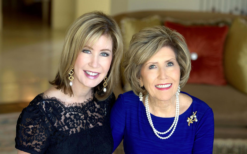 Lisa with her mother Dodie Osteen