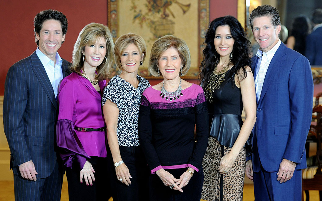 The Osteen Children with their mother Dodie Osteen